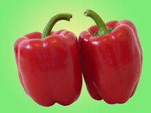 Red pepers. Isolated with clipping path royalty free stock photography