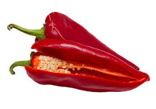 Red Pepper. An isolated red pepper image stock images