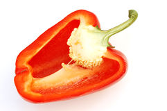 Red pepper #3. On white background stock photography