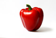 Red pepper. On white background stock photos