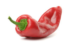 Red pepper. Isolated over white Royalty Free Stock Photo