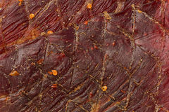 Red Pepper Beef Jerky stock image
