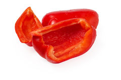 Red pepper bell sliced Stock Image
