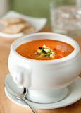 Red pepper bisque Stock Image