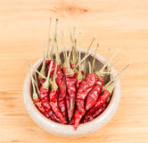 Red pepper in bowl Royalty Free Stock Photos