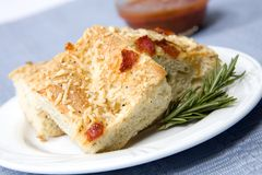 Red Pepper and Carmalized Onion Focaccia Bread Royalty Free Stock Photography