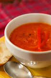 Red Pepper – Carrot Soup Stock Images