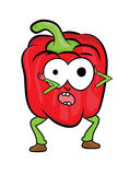 Red pepper cartoon character Stock Photography