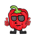 Red pepper cartoon character Stock Photos