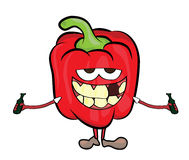 Red pepper cartoon character Royalty Free Stock Photo
