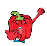 Red pepper cartoon character Royalty Free Stock Image