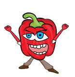 Red pepper cartoon character Stock Photo