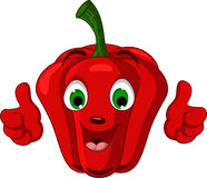 Red Pepper Character giving thumbs up Royalty Free Stock Images