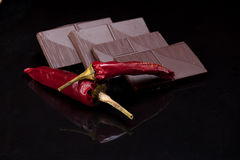Red pepper chilli chocolate Royalty Free Stock Image