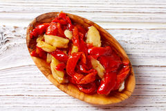 Red pepper and cod fish esgarraet tapas Stock Photo