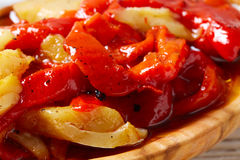 Red pepper and cod fish esgarraet tapas Royalty Free Stock Image