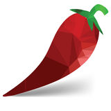 Red pepper. Colorful illustration with red pepper on white background vector illustration
