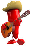 Red pepper cowboy Royalty Free Stock Image