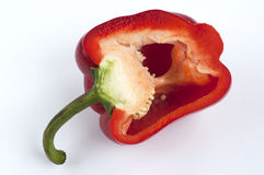 Red pepper cut Stock Image