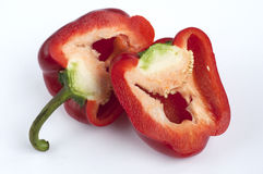 Red pepper cut Stock Photo