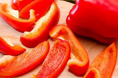 Red pepper cut Royalty Free Stock Images