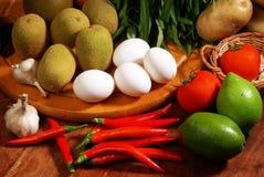 Red pepper. Egg. Tomato. Kiwifruit. Vegetables Royalty Free Stock Images