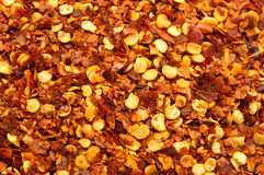Red pepper flakes Royalty Free Stock Photos
