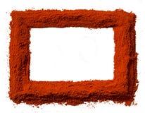 Red pepper frame Stock Image