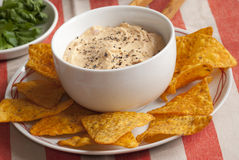 Red pepper houmous Royalty Free Stock Photo