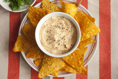 Red pepper houmous Royalty Free Stock Photos