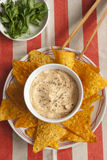Red pepper houmous Stock Photography