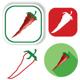 Red pepper icons Royalty Free Stock Photo