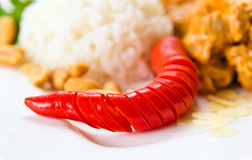 Red pepper with meat and rice Royalty Free Stock Photography