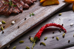 Red pepper with meat. Royalty Free Stock Images
