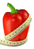 Red Pepper and meter Royalty Free Stock Images