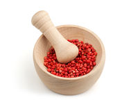 Red pepper in a mortar Royalty Free Stock Photo