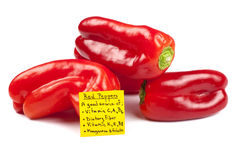 Red Pepper Nutrition Stock Photography