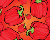 Red pepper pattern Royalty Free Stock Photos