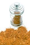 Red pepper powder in jar Stock Photos