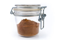 Red pepper powder in jar Royalty Free Stock Photos