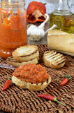 Red Pepper Relish. Close-up. Stock Image