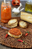 Red Pepper Relish. Close-up. Royalty Free Stock Photography