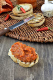 Red Pepper Relish. Close-up. Royalty Free Stock Photo