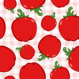 Red Pepper Seamless Pattern on Tablecloth. A seamless pattern with red peppers on a checkered picnic tablecloth background. Useful also as design element for Stock Photos