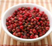 Red pepper seeds Royalty Free Stock Image
