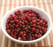 Red pepper seeds. Some red pepper seeds in a bowl Royalty Free Stock Images
