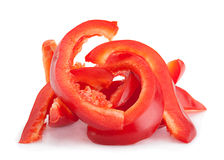 Red pepper slice Stock Image