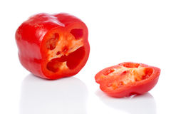 Red pepper slices Stock Photos