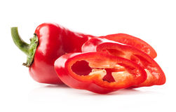 Red pepper slices Royalty Free Stock Photo