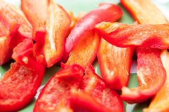 Red pepper slices Stock Photo